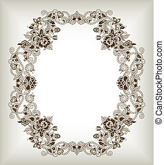 Abstract Floral Frame Background 2