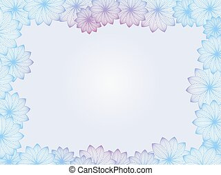Abstract floral frame, background with flowers