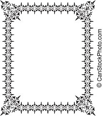 Abstract floral frame, elements for design, vector