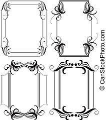 Abstract Floral Frame Set 4
