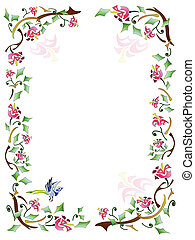 Abstract Floral Frame with natural pattern