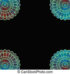 Abstract floral mandala background design