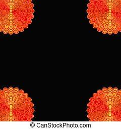 Abstract floral mandala background - vector digital art love...