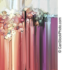 Spring flower seasonal nature background - Abstract floral...