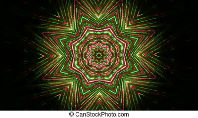 Abstract floral ornament kaleidoscope - Background...