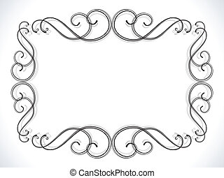 abstract floral ornamental border