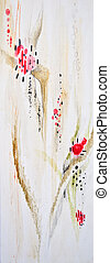 Abstract floral painted background
