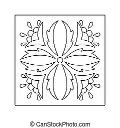 Abstract floral pattern. Doodle style. Decorative element.