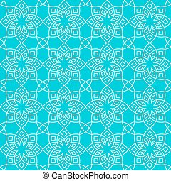 Abstract floral pattern. Geometric flowers in seamless...