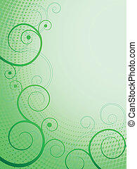 abstract floral pattern green frame