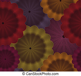Abstract floral seamless background. Vector