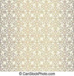 Abstract floral seamless pattern. Geometric dividing line ornament