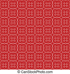 Abstract floral seamless red pattern