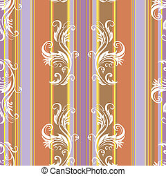 abstract, floral, strepen, achtergrond, (vector)