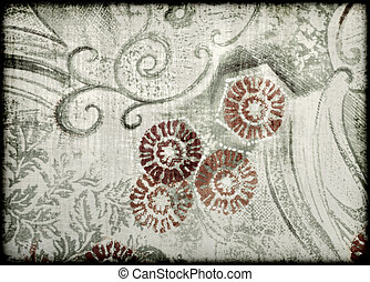 abstract floral style old paper