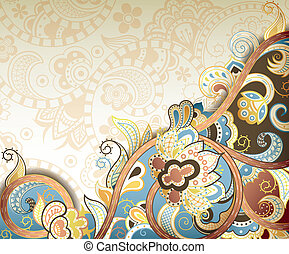 Abstract Floral Swirl Background