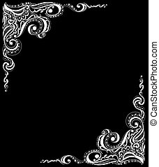 Abstract floral tattoo pattern