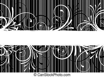 abstract, floral, tekst, frame