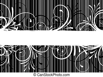 abstract floral text frame