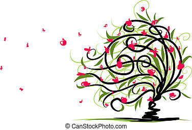 Abstract floral tree for your design