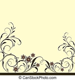 Abstract floral vintage background with copy space.