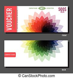 Abstract Floral Voucher - Modern Gift Voucher Template With...