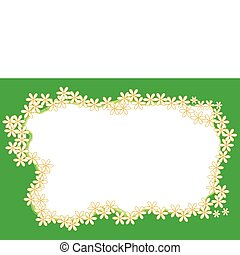 Abstract floral white frame for tex
