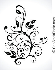 abstract floral with curve