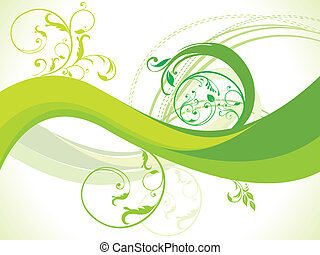 abstract floral with wave vector il