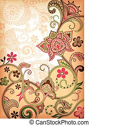 Abstract Florals - Illustration of abstract floral...
