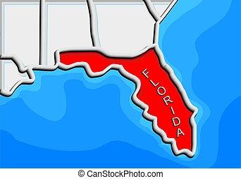 abstract florida map