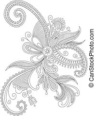 Abstract flourish background with decorative elements....