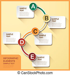 abstract flow chart infographics - 3d vector abstract flow...