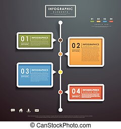 abstract flow chart infographics - modern vector abstract ...
