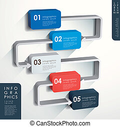 abstract flow chart infographics - modern vector abstract...