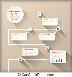 abstract flow chart infographics - vector abstract flat...