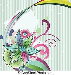 abstract flower art - vector abstract flower design...