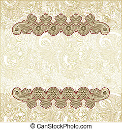 abstract flower background - hand draw ornate abstract...