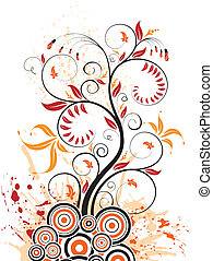Abstract flower background - Abstract grunge flower...