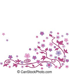 abstract flower background in pink colors -1