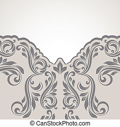 Abstract flower background. - Floral border. Abstract flower...