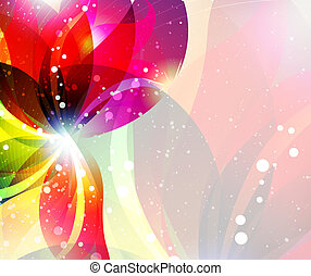 Abstract flower backgrouns - Transparent flower on abstract ...