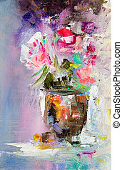 Abstract flower bouquet