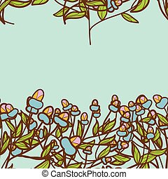 Abstract Flower bud pattern. Seamless texture.