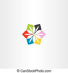 abstract flower colorful business icon logo vector