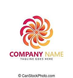Abstract Flower Company Logos Design Vector Illustration Template