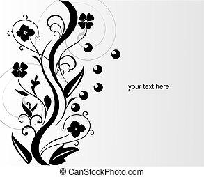 Abstract flower design - vector