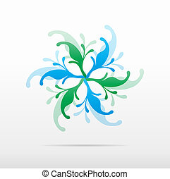 abstract flower design vector icon logo