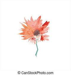 Abstract flower. Floral decorative element. Vector floral...
