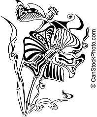 Abstract flower, element for design, vector illustration